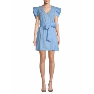 アレクシアアドモール レディース ワンピース Faux Pearl-Embellished Cotton Dress