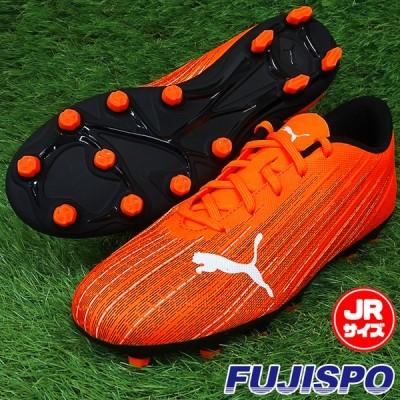 ウルトラ 4.1 HG Jr プーマ(puma) ジュニアサッカースパイク ショッキングオレンジ×プーマブラック (106102-01)