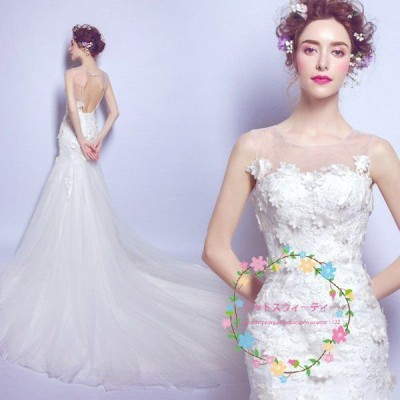 ウエディングドレス 白 格安 花嫁 結婚式  マーメイドラインドレス マーメイド 衣装 調節 二次会 ロング パーティードレス 披露宴 お呼びドレス 大きいサイズ