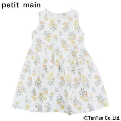 40%OFFセール petit main プティマイン ワンピース ボタニカル 女の子 ベビー 子供服 ネコポス便OK 新作 2102 C