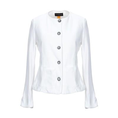 IANUX #THINKCOLORED テーラードジャケット ホワイト 40 コットン 94% / ポリウレタン 6% テーラードジャケット