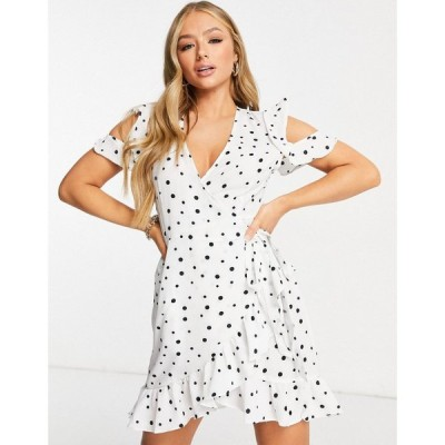 セイントジーニーズ Saint Genies レディース ワンピース ラップドレス ワンピース・ドレス Ruffle Wrap Dress In Polka Dot ドット