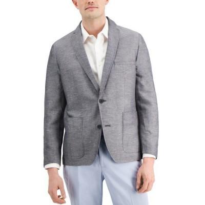 アイエヌシーインターナショナルコンセプト ジャケット&ブルゾン アウター メンズ INC Men's Rocco Slim-Fit Chambray Blazer, Created for Macy's Antique Tin