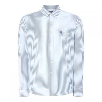 ラルフ ローレン Polo Ralph Lauren メンズ シャツ トップス Striped Oxford Shirt White Blue