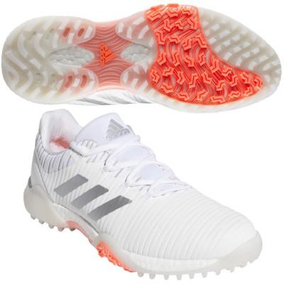 アディダス Adidas コードカオス シューズ 26cm ホワイト/シルバーメタリック/シグナルコーラル レディス