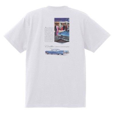 アドバタイジング キャデラック Tシャツ 白 951 黒地へ変更可 1959 オールディーズ ロックンロール 1950's 1960's ロカビリー ホットロッド