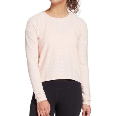 カリア シャツ トップス レディース CALIA by Carrie Underwood Women's Diamond Mesh Long Sleeve Shirt (Regular and Plus) PinkDarling