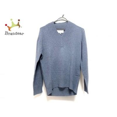 ベイジ BEIGE 長袖セーター サイズ4 XL レディース 美品 - ブルーグレー Vネック 新着 20210213