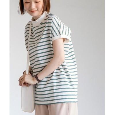coen / 【WEB限定カラー】リピT・UVカット/吸水速乾/接触冷感ハイネックTシャツ# WOMEN トップス > Tシャツ/カットソー