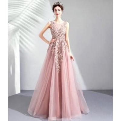 天使ピンク花嫁ウェディングドレス/結婚式礼服/パーティードレス/ワンピース/ドレス ロングタイプスカート/イブニングドレス披露宴/ウエ