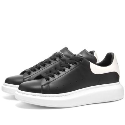 アレキサンダー マックイーン Alexander McQueen メンズ スニーカー ウェッジソール シューズ・靴 Heel Tab Wedge Sole Sneaker Black/White