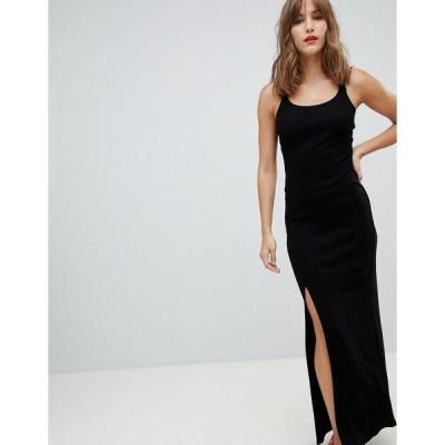 リバーアイランド レディース ワンピース トップス River Island Cami Bodycon Maxi Dress Black
