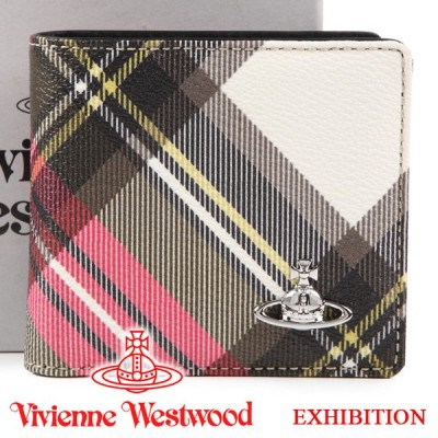 ヴィヴィアンウエストウッド 財布 メンズ レディース Vivienne Westwood ヴィヴィアン 二つ折り財布 チェック 51010034 EXHIBITION