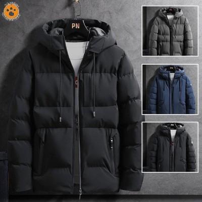 ダウンジャケット メンズ 中綿ジャケット 冬 アウター 暖かい 軽い おしゃれ 無地 防風コート 防寒着 ジャケット  ブルゾン ダウンコート