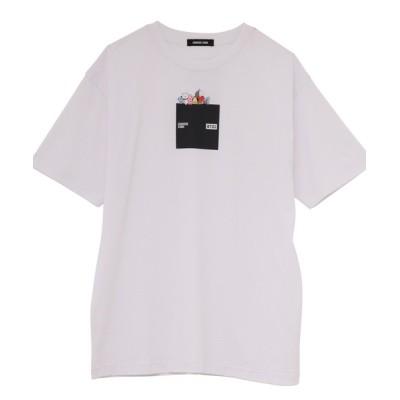 CONVERSE STARS / 【CONVERSE STARS×BT21】モノクロボックスロゴTシャツ WOMEN トップス > Tシャツ/カットソー