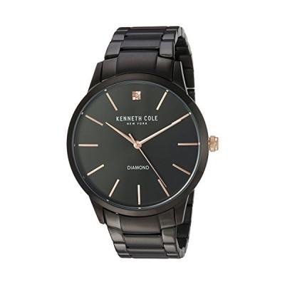 (輸入品)Kenneth Cole New York Men's Quartz Stainless Steel Case Genuine Solid Link Bracelet Black,(Model:KC15111004)