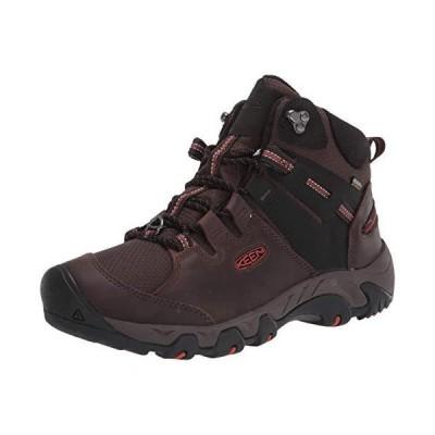 KEEN Men's Steens MID Polar Hiking Boot, Coffee Bean/Picante, 7【並行輸入品】