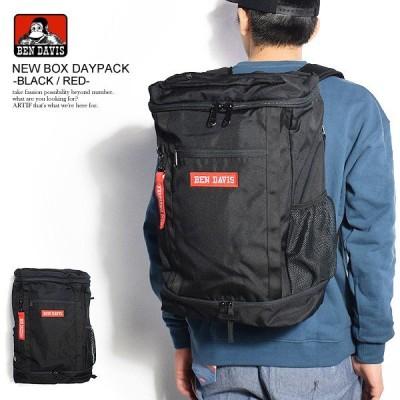 ベンデイビス バックパック BEN DAVIS NEW BOX DAYPACK -BLACK/RED-