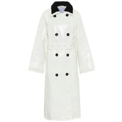 スタンドスタジオ Stand Studio レディース トレンチコート アウター marissa coated canvas trench coat White