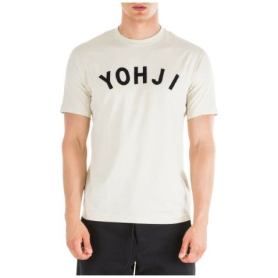 メンズ Tシャツ ワイー3 Y-3 MEN'S SHORT SLEEVE T-SHIRT CREW NECKLINE JUMPER NEW YOHJI LETTERS WHITE F8C