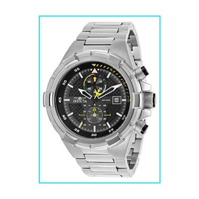 Invicta Men's Aviator Quartz Watch with Stainless Steel Strap, Silver, 26 (Model: 28108)【並行輸入品】