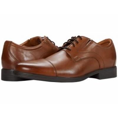 Clarks クラークス メンズ 男性用 シューズ 靴 オックスフォード 紳士靴 通勤靴 Whiddon Cap Dark Tan Leather【送料無料】