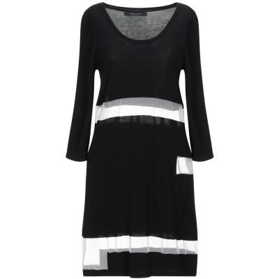 メッサジェリエ MESSAGERIE ミニワンピース&ドレス ブラック S レーヨン 80% / ポリエステル 14% / ポリウレタン 6% ミニ