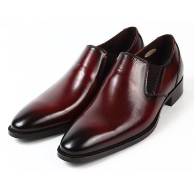 3色 日本製 本革 ビジネスシューズ 革靴 プレーントゥ スワール バンプ スリッポン サイドゴア 3E 撥水 Christian Carano クリスチャンカラノ 1023