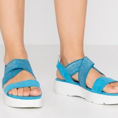 マルコトッツイ レディース サンダル Platform sandals - malibu blue