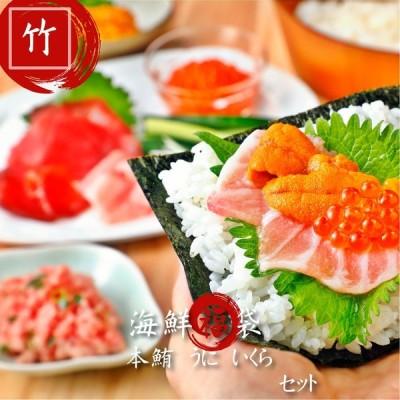 (送料無料)海鮮福袋「竹」 本鮪大トロ中トロ うに いくら 入り 食べ比べ 寿司  マグロ ねぎとろ 贈り物 豪華セット
