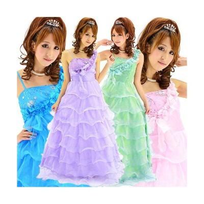 流れる小花銀スパン刺繍妖精ロングドレス