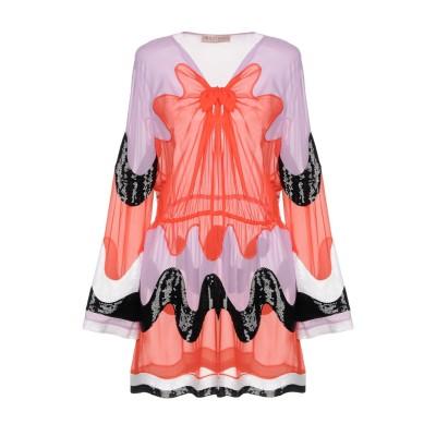 エミリオ・プッチ EMILIO PUCCI ミニワンピース&ドレス レッド 40 シルク 100% ミニワンピース&ドレス