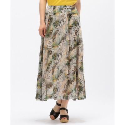 スカート illico/リゾートプリントロングフレアスカート