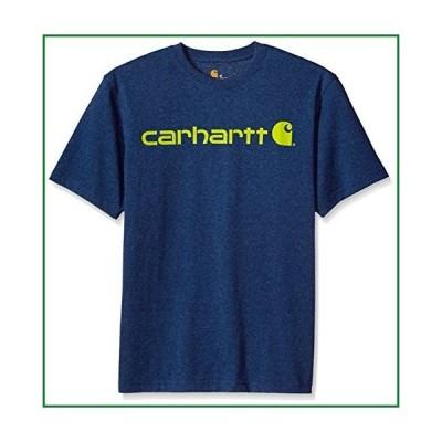 Carhartt Men's Big & Tall Signature Logo Short Sleeve T-Shirt, Dark Cobalt Blue Heather, 3X-Large