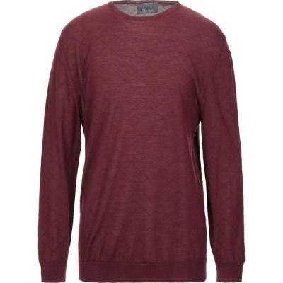 オビオスベーシック OBVIOUS BASIC メンズ ニット・セーター トップス Sweater Maroon