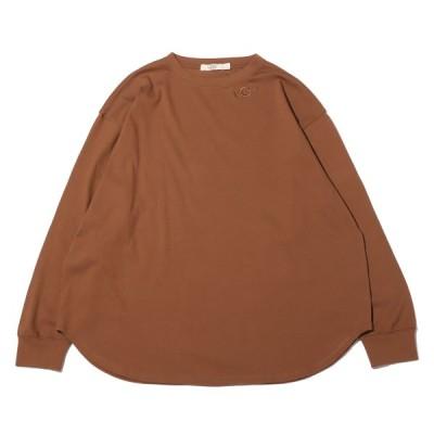 アグ UGG 長袖Tシャツ ネックロゴ リブプルオーバー (BROWN) 21SS-I