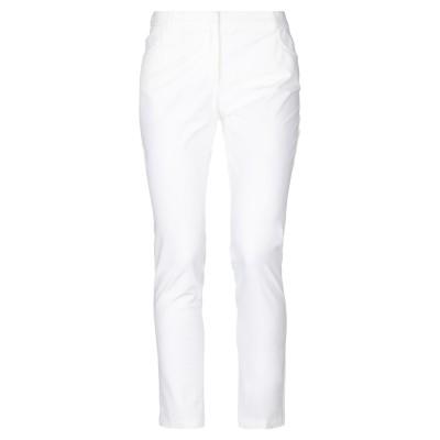 E/KOLLINS パンツ ホワイト 42 コットン 95% / ポリウレタン 5% パンツ