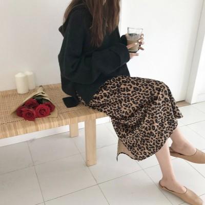 レオパードスカート レディース スカート ロング丈 Aライン ヒョウ柄 Sサイズ Mサイズ Lサイズ 送料無料