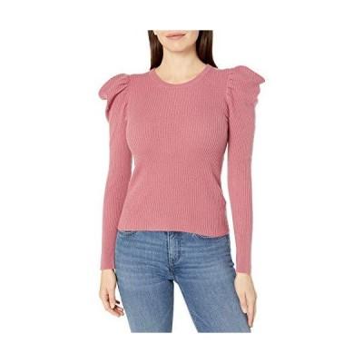 Splendid Women's Long Cashmere Blend Puff Sleeve Sweater, Dusty Cedar Pink,