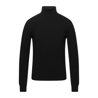S. MORITZ タートルネック ブラック 46 ウール 90% / カシミヤ 10% タートルネック