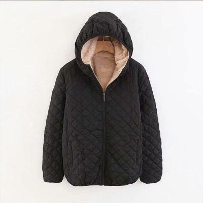 レディース 9色!フード付きラムウールコート  レディースジャケット 綿コート 厚手 ショートルーズコートアウター 防寒アウトドア 防風  着痩せ 通勤  冬用 人