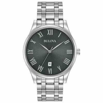 ブローバ 腕時計 New Bulova Classic クラシック Surveyor Stainless Steel Grey Dial メンズ Watch 96B261