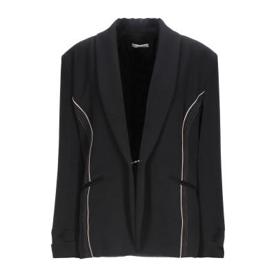 CRISTINAEFFE テーラードジャケット ブラック 50 ポリエステル 96% / ポリウレタン 4% テーラードジャケット