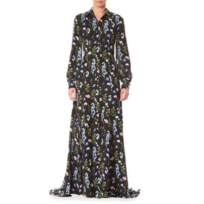キャロライナヘレラ レディース ワンピース トップス Long-Sleeve Shirt Gown