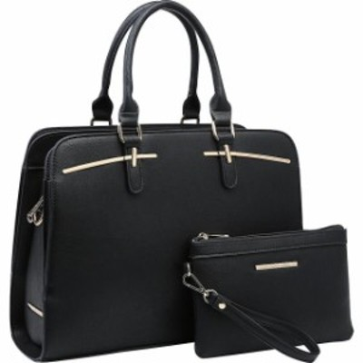 Dasein  ファッション バッグ Dasein Leather Satchel with Matching Wristlet 5 Colors