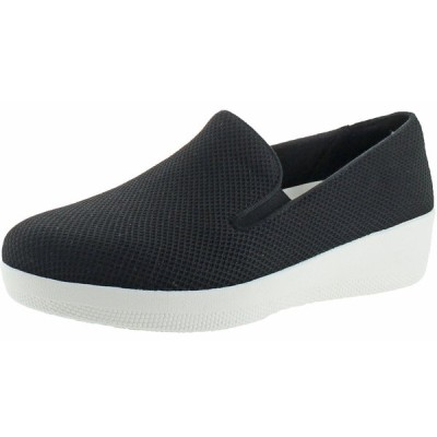 フラットシューズ フィット フロップ FitFlop Women's Uberknit Textile Slip On Skate Shoes Loafers