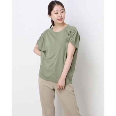 ダンスキン DANSKIN レディース フィットネス 半袖Tシャツ ICE COMFY BIG TOP DC521111 (イエロー)