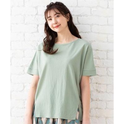 tシャツ Tシャツ 【接触冷感】スリットデザイントップス