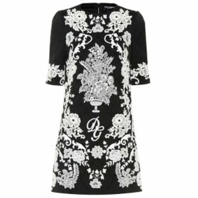 ドルチェ&ガッバーナ Dolce & Gabbana レディース ワンピース ワンピース・ドレス Embroidered jacquard minidress Black