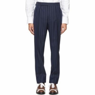 ラルフ ローレン Ralph Lauren Purple Label メンズ ボトムス・パンツ navy fresco greg trousers Navy/White